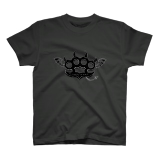 Ryoku-Knuckle devil b-gray T-shirts