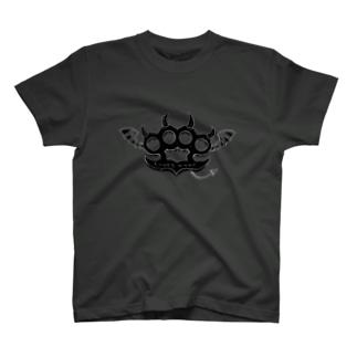 Ryoku-Knuckle devil b-gray T-shirts