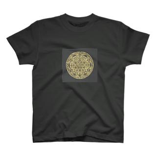 Maru ⭕ Mandala 繁栄(黒) T-shirts