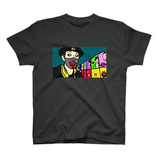 ひろのすけ/平塚愚霊人さんコラボ商品(イラスト提供:平塚愚霊人さん) T-shirts