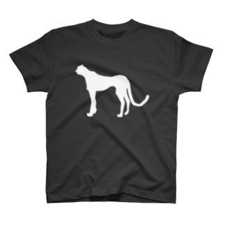 チーター _WHITE T-shirts