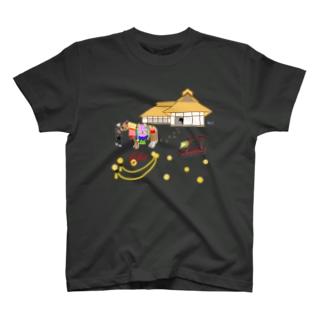 チャグチャグ馬コと曲り屋 シャツ T-shirts