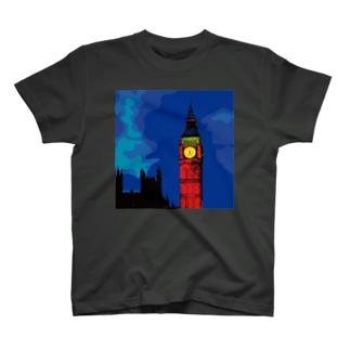 ロンドン ビッグベン エリザベスタワー T-shirts