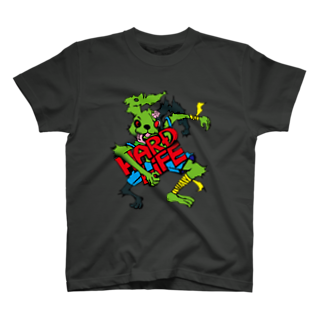 wad.japanのHARD_LIFEな兎 T-shirts