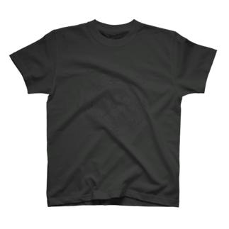 猫召喚魔法陣(グレー線) Tシャツ