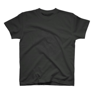 PygmyCat suzuri店の猫召喚魔法陣(グレー線) T-shirts