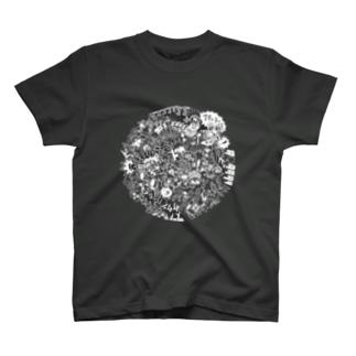 DOKAN_white T-shirts