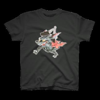 和もの雑貨 玉兎の百鬼夜行絵巻 扇の付喪神【絵巻物・妖怪・かわいい】 T-shirts