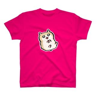 白いフチがあるコビハムちゃん Tシャツ