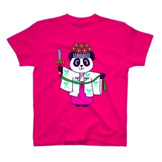 パンダ巫女 舞姿 Tシャツ