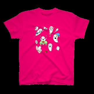 くろすけのおばけの日常Tシャツ