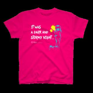 怖話グッズの怖話-Girlイラスト(T-Shirt Pink) Tシャツ