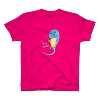 癒しのブルーゲッコー Tシャツ