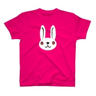 ウサギ white T-shirts