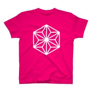 Japonismの麻の葉柄 カラー T-shirts