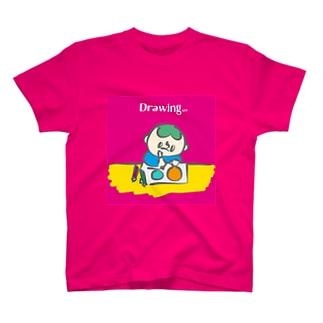 ドローイングTシャツ T-shirts