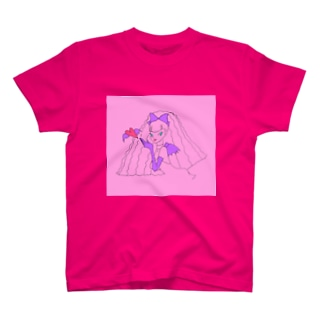 毛量すごい悪魔っこ T-shirts