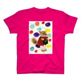 りすと百日草 T-shirts
