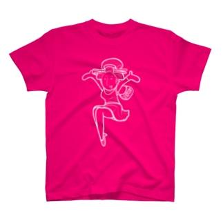 Edocolle Girl(White Line) T-shirts