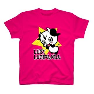 小悪魔パンダのLUCY T-shirts