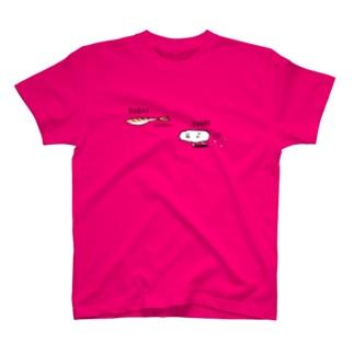 ネタに追いつけないシャリ(寿司) T-shirts