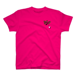 松と鶴 墨絵風Tシャツ T-shirts