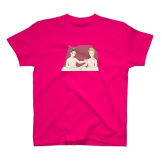 フォンテーヌブロー派 「ガブリエル・デストレとその妹」 T-shirts