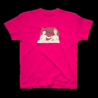 アート商会のフォンテーヌブロー派 「ガブリエル・デストレとその妹」 T-shirts