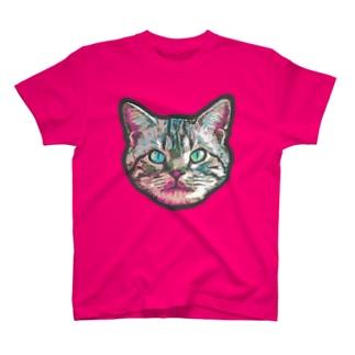 色彩キャット(ピンク) T-shirts