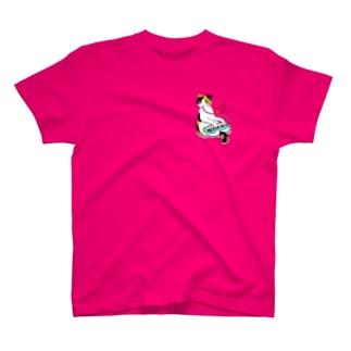 鍵盤ハーモニカを弾く猫 T-shirts