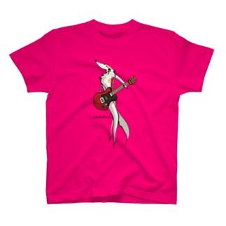 ロックンロール ボルゾイ T-shirts