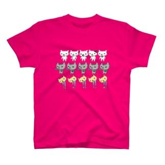 猫集合 T-shirts