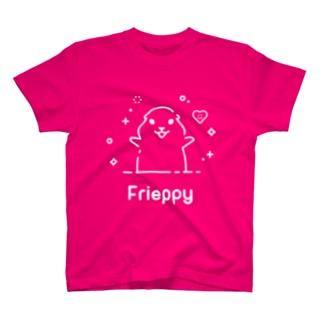 Frieppy WhiteロゴTシャツ T-shirts