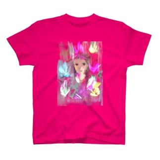 カラフルな炎 T-shirts