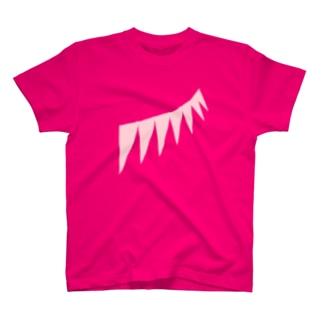 ピンクフェザー T-shirts