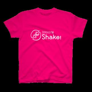 nowhitonの【DOGGYM Shake!】シンプルロゴ(白) T-shirts