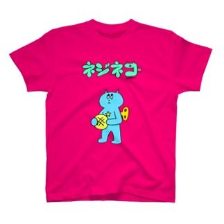 ネジネコとメロンパン(ロゴ入り) T-shirts