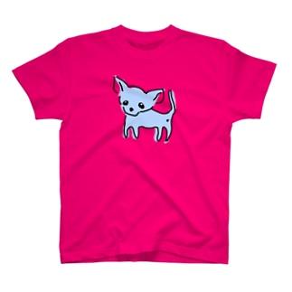 ゆるチワワ(ブルー) T-shirts