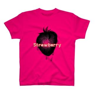 黒鳥夜子作StrawberryTシャツ T-shirts