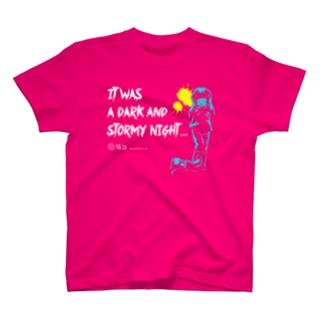 怖話-Girlイラスト(T-Shirt Pink) Tシャツ
