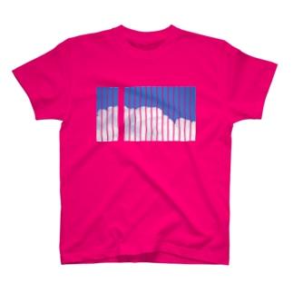 シマシマ雲雲 T-shirts