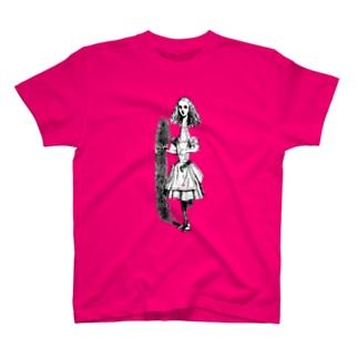 不思議の国のアリス 首が伸びたアリス T-shirts