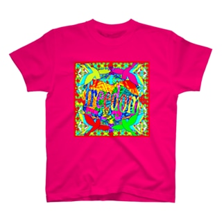 ✨🌈✨RAKKAN✨🌈✨のフリーダムバード🌺パッションレッド T-shirts