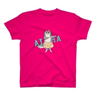 aloha cat Tシャツ