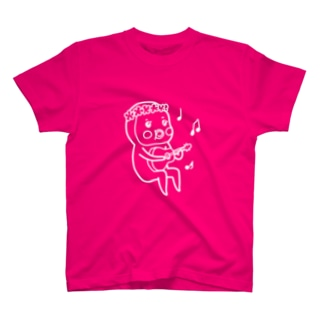 めめたん ウクレレ(白フチ) T-shirts