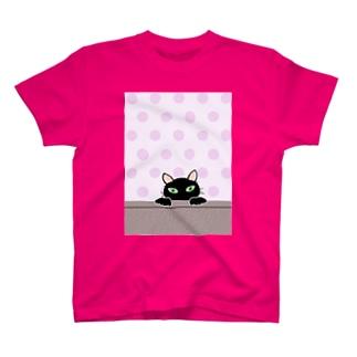 黒猫PUKU T-shirts