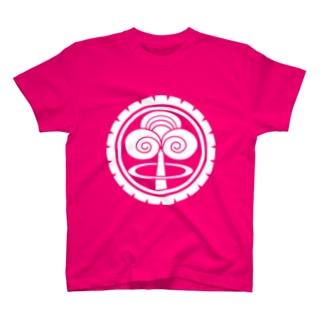 世紀末家紋「ゴムタイヤに茸雲」濃色 T-shirts