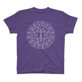 フトマニ図(ホツマ文字・濃色) T-shirts