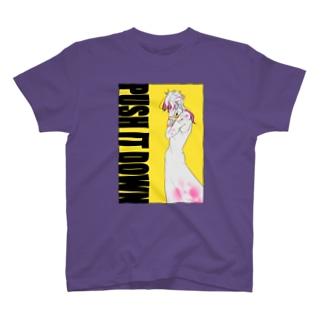 PUSH IT DOWN(淡色) T-shirts