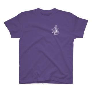 ネコハグウクレレWH T-shirts